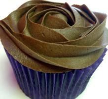 chocolate rum and raisin cupcake