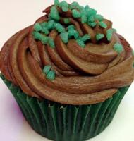 mint choc monster cupcake