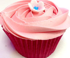 rhubarb and custard cupcake