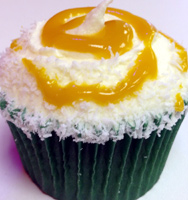 tropical volcano cupcake